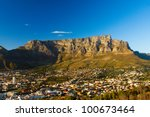 view of table mountain with... | Shutterstock . vector #100673464