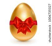 realistic golden easter egg... | Shutterstock . vector #1006735327
