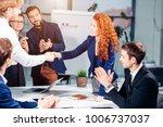 business people handshake... | Shutterstock . vector #1006737037