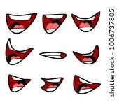 cartoon mouth set vector...   Shutterstock .eps vector #1006737805