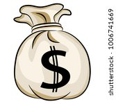 an image of a bag of bank money ...   Shutterstock .eps vector #1006741669