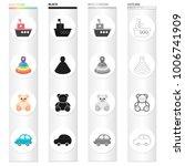 children's toy cartoon icons in ...   Shutterstock .eps vector #1006741909