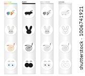 children's toy cartoon icons in ...   Shutterstock .eps vector #1006741921
