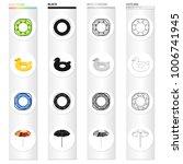 multicolored swimming circle...   Shutterstock .eps vector #1006741945