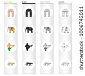 country india cartoon icons in...   Shutterstock .eps vector #1006742011
