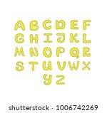alphabet hand drawn vector...   Shutterstock .eps vector #1006742269