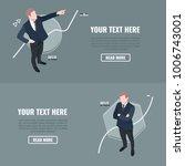 career planning. businessman... | Shutterstock .eps vector #1006743001