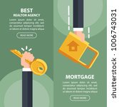 two concept of web header best... | Shutterstock .eps vector #1006743031