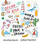cute doodle collage background | Shutterstock .eps vector #1006744354