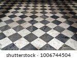 black and white checkered... | Shutterstock . vector #1006744504
