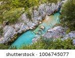 clear blue soca river in... | Shutterstock . vector #1006745077