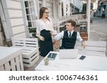 businessman and woman working... | Shutterstock . vector #1006746361