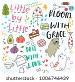 cute doodle collage background | Shutterstock .eps vector #1006746439
