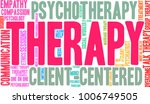 therapy word cloud on a white... | Shutterstock .eps vector #1006749505