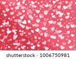 white and pink heart shape and... | Shutterstock . vector #1006750981