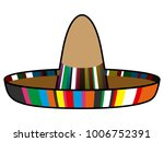 isolated mexican hat image... | Shutterstock .eps vector #1006752391