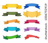 set of ten multicolor ribbons... | Shutterstock .eps vector #1006752919