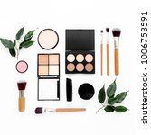 professional makeup tools.... | Shutterstock . vector #1006753591