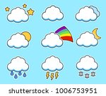 icons flat cloud set for your... | Shutterstock .eps vector #1006753951