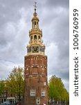 tower  montelbaanstoren  on... | Shutterstock . vector #1006760959