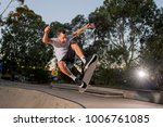 young american man practicing...   Shutterstock . vector #1006761085
