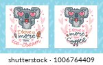 set of greeting cards with... | Shutterstock .eps vector #1006764409