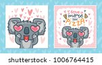 set of greeting cards with... | Shutterstock .eps vector #1006764415