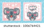 set of greeting cards with... | Shutterstock .eps vector #1006764421