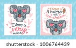 set of greeting cards with... | Shutterstock .eps vector #1006764439