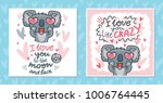 set of greeting cards with... | Shutterstock .eps vector #1006764445