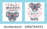 set of greeting cards with... | Shutterstock .eps vector #1006764451