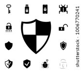 shield protection icon. set of... | Shutterstock .eps vector #1006770241