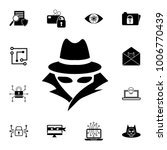 spy  agent icon. set of... | Shutterstock .eps vector #1006770439