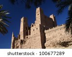 kasbah towers in agdz  morocco | Shutterstock . vector #100677289