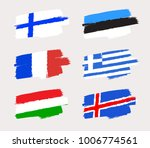 set of world flags in grunge... | Shutterstock .eps vector #1006774561