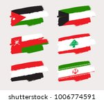 set of world flags in grunge... | Shutterstock .eps vector #1006774591