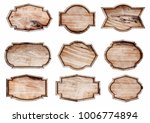 wood sign isolated on white... | Shutterstock . vector #1006774894
