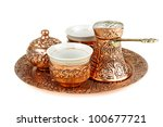 Turkish Coffee Set Isolated On...
