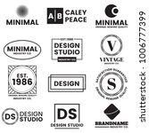 minimal vector logo for banner  ... | Shutterstock .eps vector #1006777399