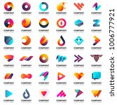 modern minimal vector logo for... | Shutterstock .eps vector #1006777921