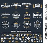 vintage retro vector logo for... | Shutterstock .eps vector #1006778539