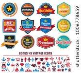 vintage retro vector logo for... | Shutterstock .eps vector #1006778659