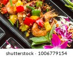 sweet and sour shimp stir fried ... | Shutterstock . vector #1006779154