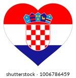 croatia flag in heart vector...