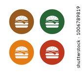 burger icons. isolate on white... | Shutterstock .eps vector #1006789819
