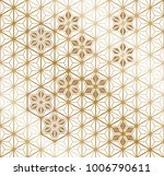 Gold Japanese Pattern Vector....
