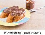 bread with chocolate hazelnut... | Shutterstock . vector #1006793041