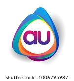 letter au logo with colorful... | Shutterstock .eps vector #1006795987