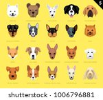 dog faces icon cartoon 5... | Shutterstock .eps vector #1006796881