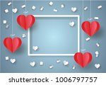 valentine's day concept. white... | Shutterstock .eps vector #1006797757